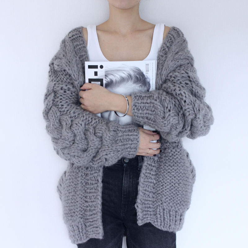 〔即納〕Hand made  knit cardigan