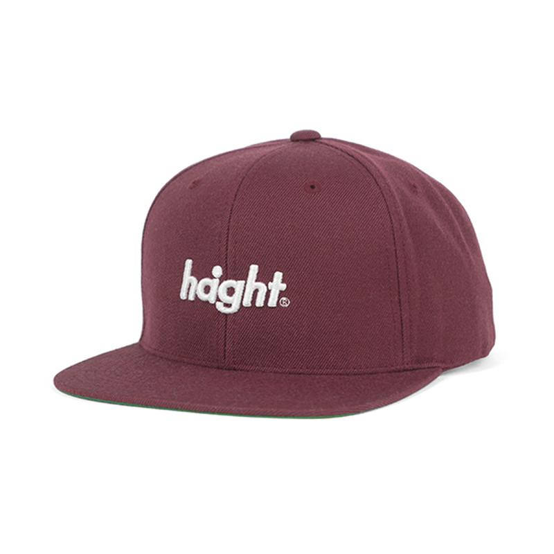 HT-W186001 / ROUND LOGO SNAP BACK CAP - BURGUNDY
