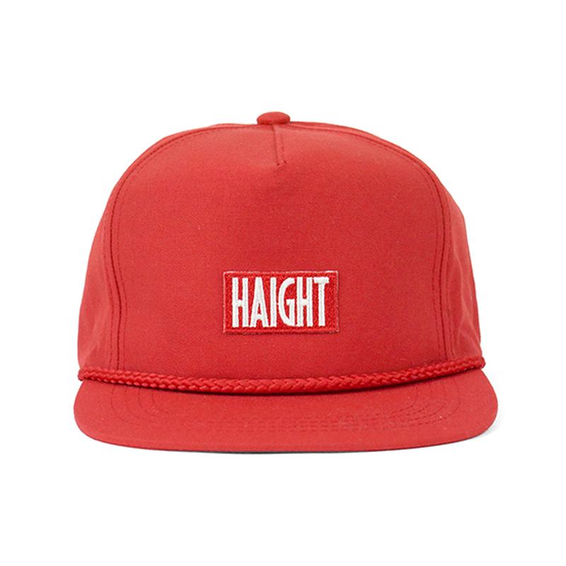 HT-W186002 / BOX LOGO ROPE SNAPBACK CAP - RED