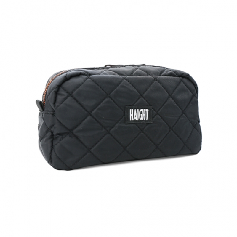 HT-G177003 / QUILTING POUCH / L - BLACK