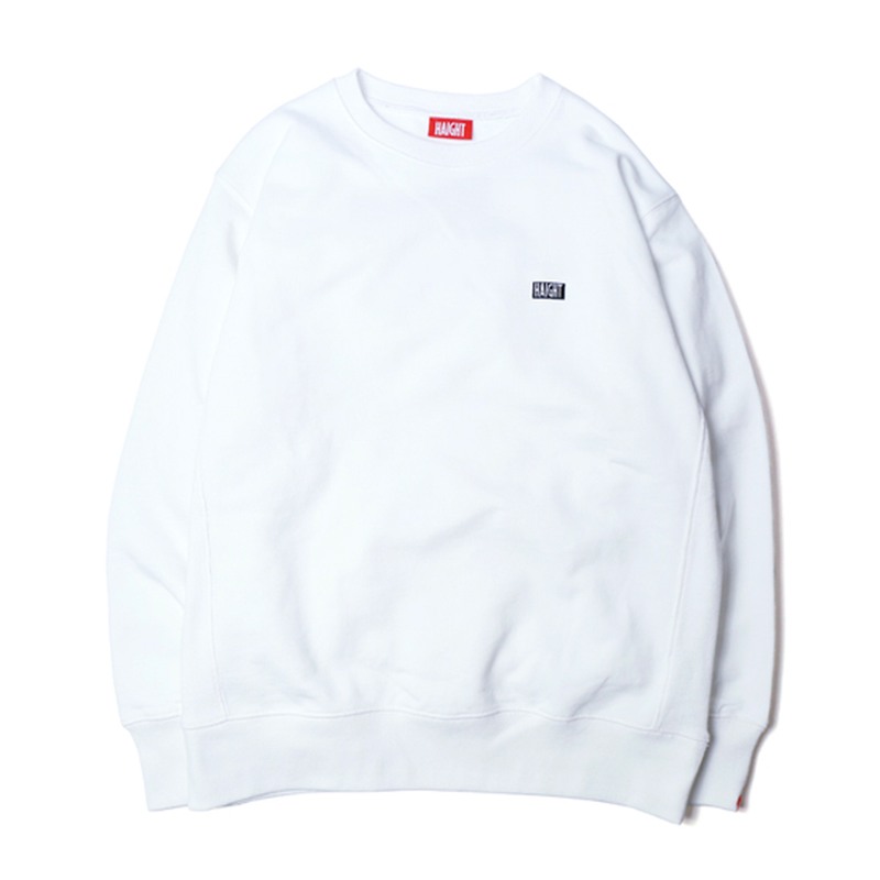 HT-W183003 / HEAVY WEIGHT CREW SWEAT - WHITE