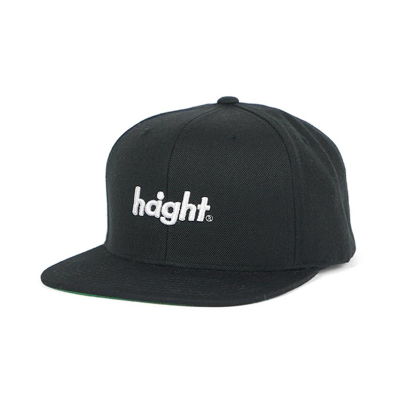 HT-W186001 / ROUND LOGO SNAP BACK CAP - BLACK