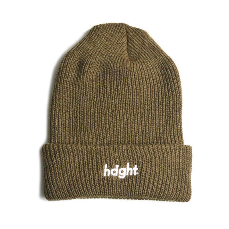 HT-W176001 / ROUND LOGO KNIT CAP - SAND