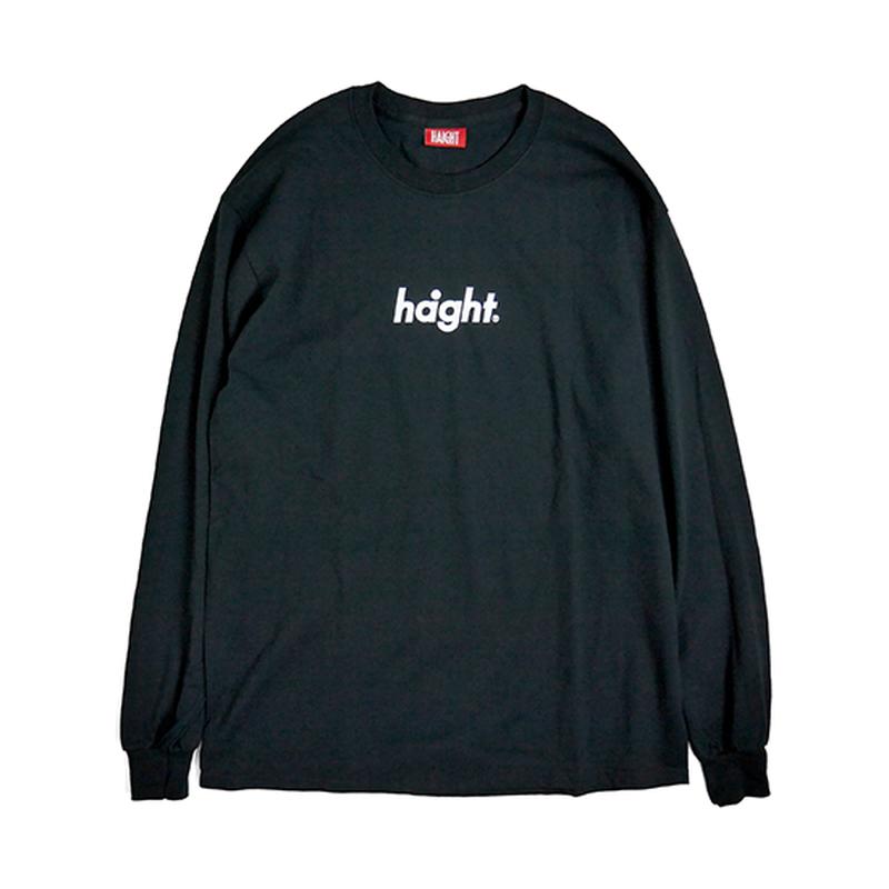 HT-W181001 / ROUND LOGO L/S TEE - BLACK