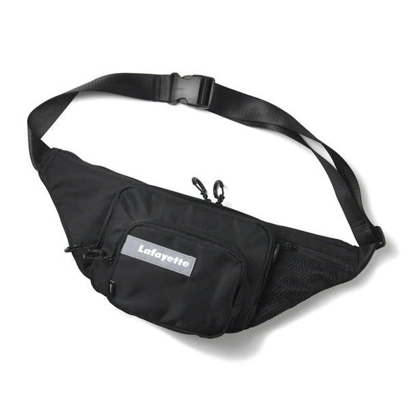 HT-G198001 / MULTI POCKET BODY BAG ft Lafayette - BLACK