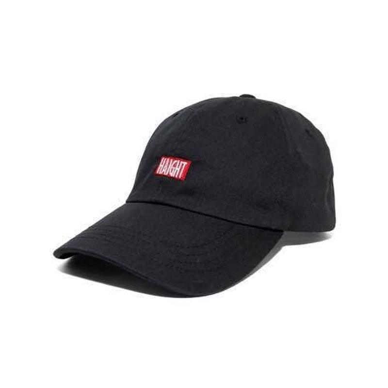 HT-W166001 / BOX LOGO BALL CAP - BLACK