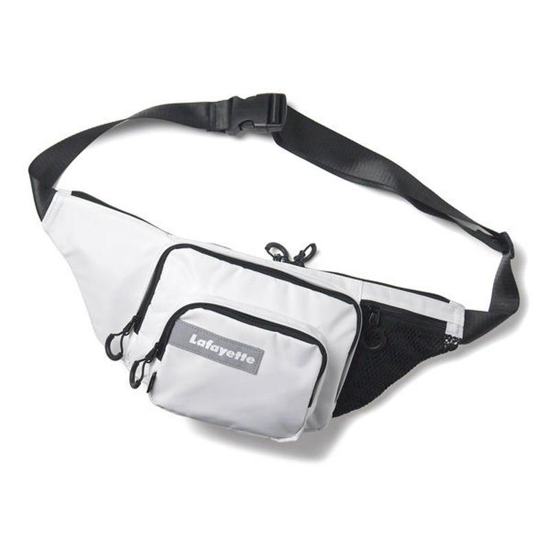 HT-G198001 / MULTI POCKET BODY BAG ft Lafayette - WHITE