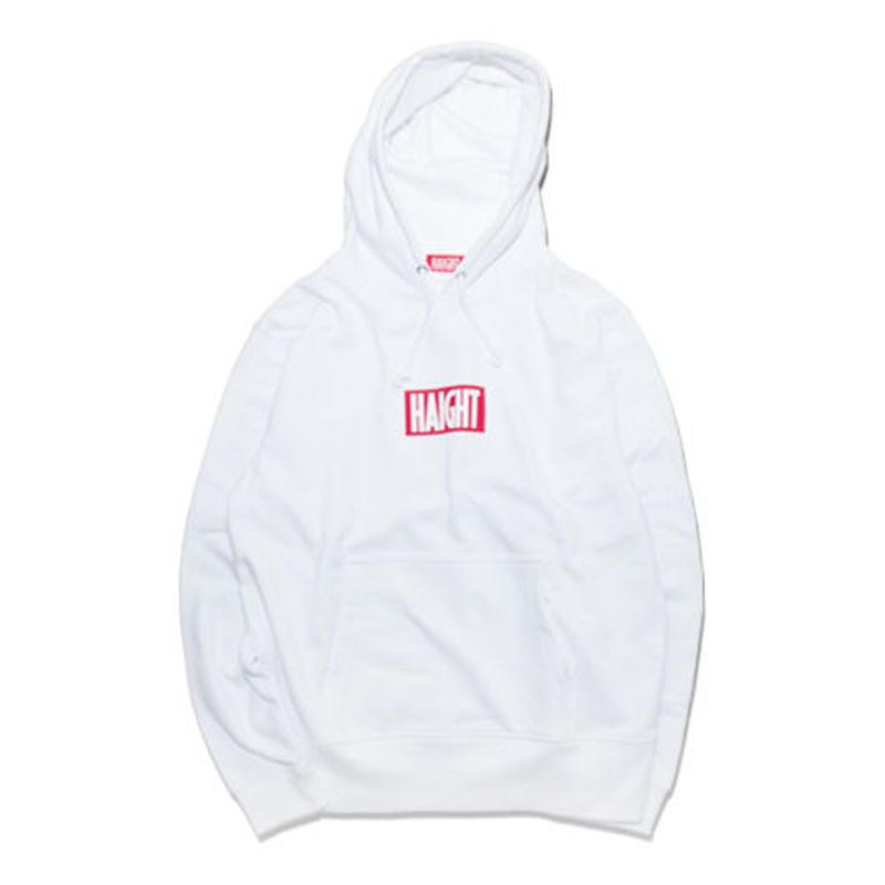 HT-W163001 / BOX LOGO HOODIE - WHITE