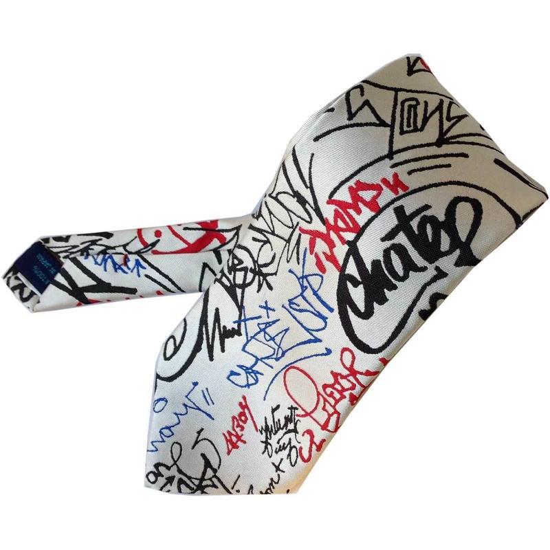 ネクタイ シルク ジャガード TIEDNISTA. タイドニスタ Grafitti ホワイト 白 日本製