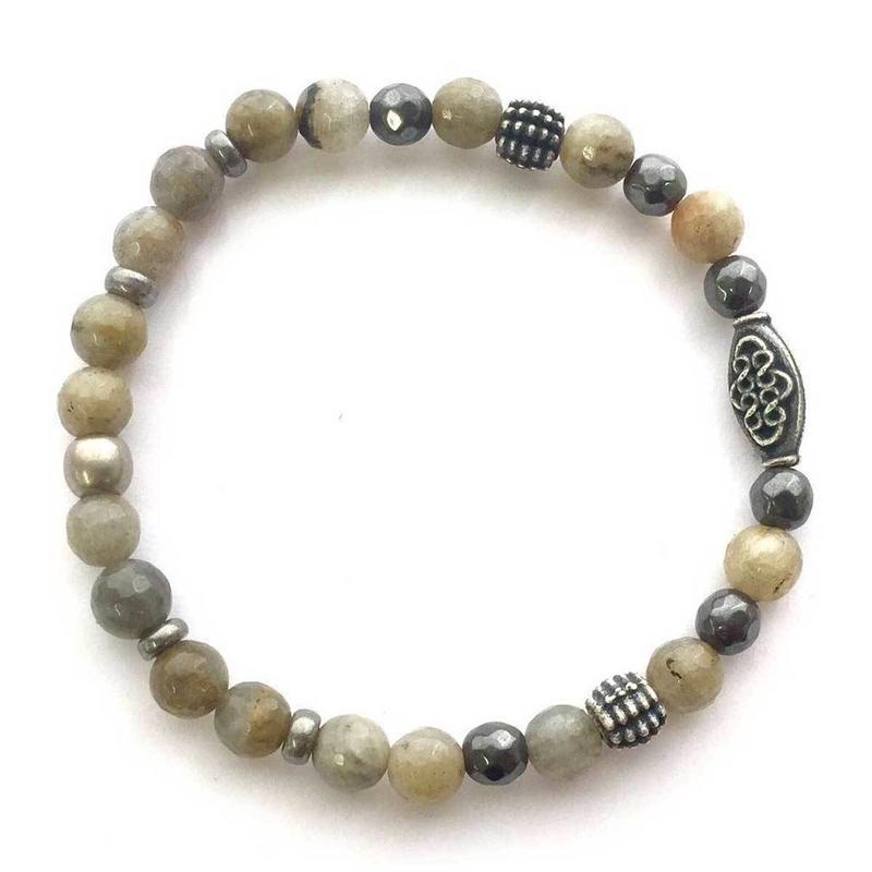 ブレスレット メンズ Grey Dawn Elastic Bracelet アメリカン ブランド Mr.Ettika ミスターエティカ