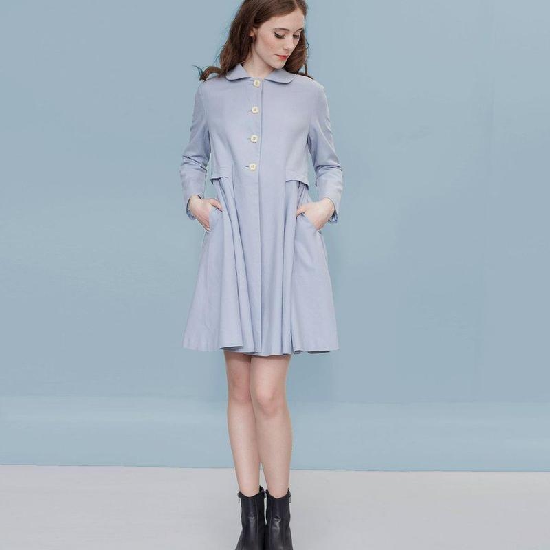 スプリングコート レディース Alice's Pig アリスズピッグ Demis Dallas Coat Blue