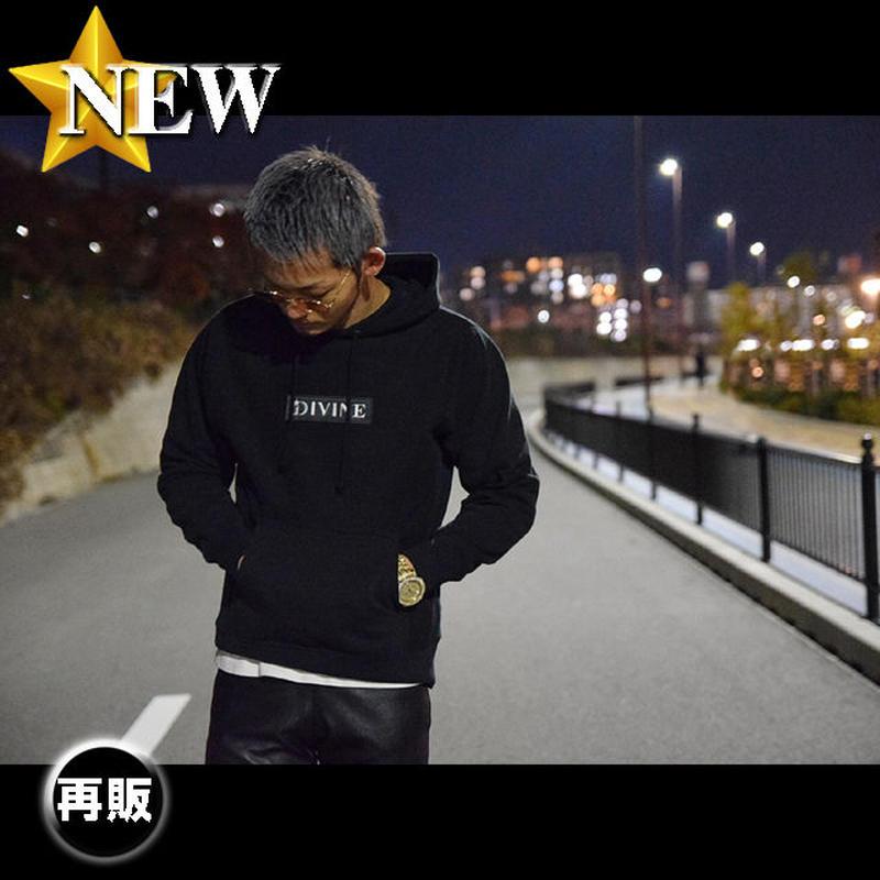 パーカー■BLACK■刺繍 Star★D_BOX【black/white】BW