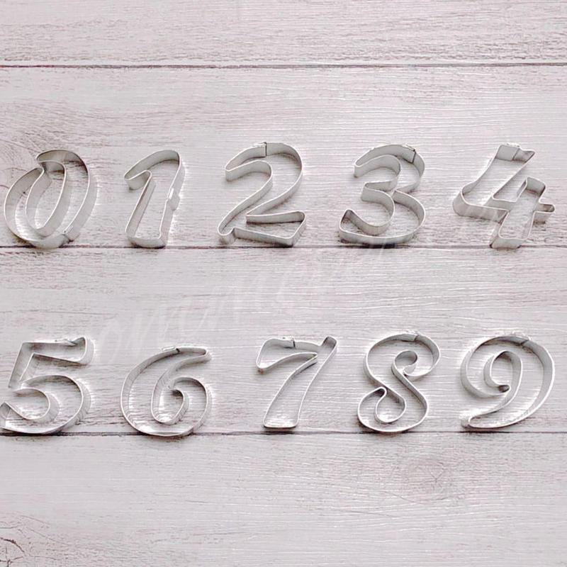 数字クッキー型     【中抜きなし】    9個セット