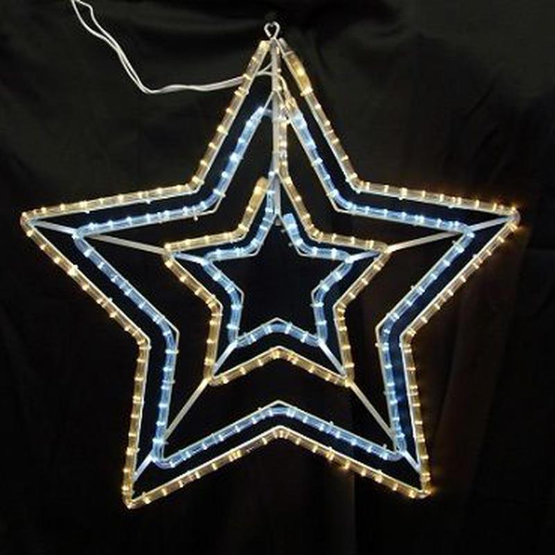 イルミネーション ディスプレイ 飾り 照明 ライティング クリスマス  ダブルスター 白・電球色  【L2DM501】