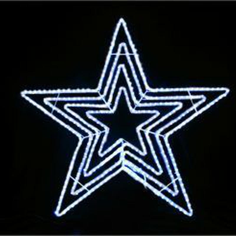 イルミネーション ディスプレイ 飾り 照明 ライティング クリスマス  星 LEDビッグスター白色【L2DM601W】CR-73