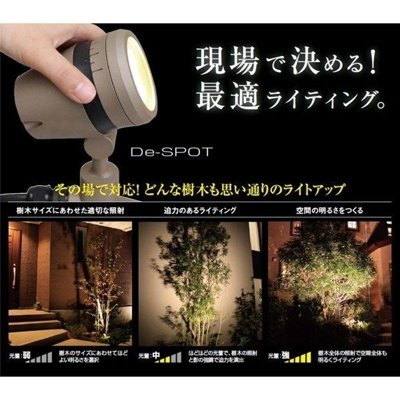 アウトレット 照明【100V LED調光ライト】De-SPOT 5m プラグ付【狭角タイプ】ブラック スポットライト 庭 ライティング TK-941(HFE-W15K)