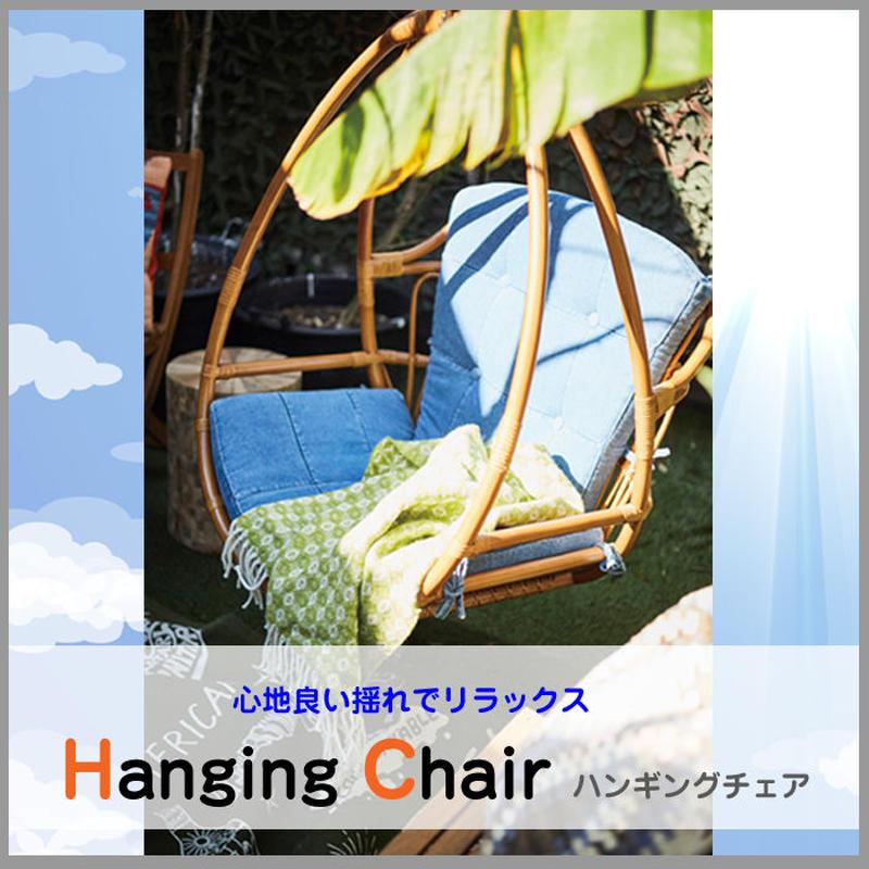 ラタン チェア【Azumaya 東谷】ハンギングチェア ガーデンファニチャー デニム 揺れる椅子 チェア テラス インテリア 家具 AZ2-182  ( TTF-920 )