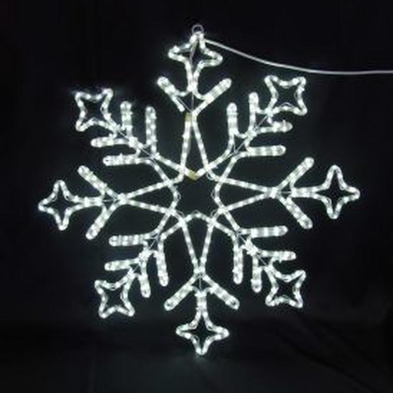 イルミネーション ディスプレイ 飾り 照明 ライティング クリスマス  雪 LEDスノーフレーク 白色【L2DM240】CR-77
