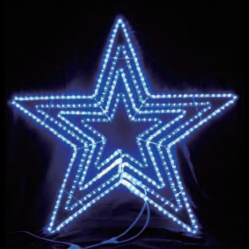 イルミネーション ディスプレイ 飾り 照明 ライティング 星 クリスマス  LEDビッグスター青色【L2DM601B】CR-73