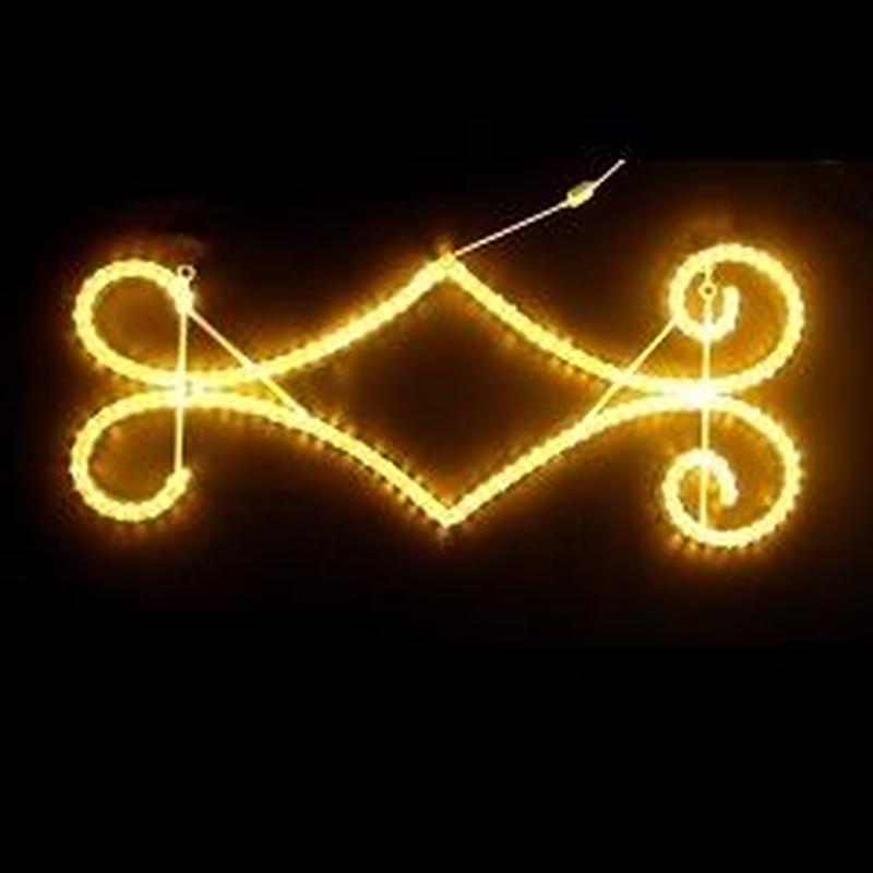 LED イルミネーション ディスプレイ 飾り 照明 ライティング クリスマス   ストレートモチーフ アラベスク124【L2DM293】CR-73