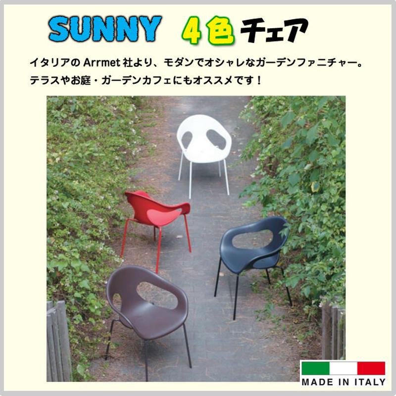 椅子 チェア ガーデンファニチャー 【SUNNY サニー】庭 テラス カフェ ディスプレイ 施設 オフィス 家具 インテリア 全4色 イタリア製 OO12-240(DA3-SUNY)