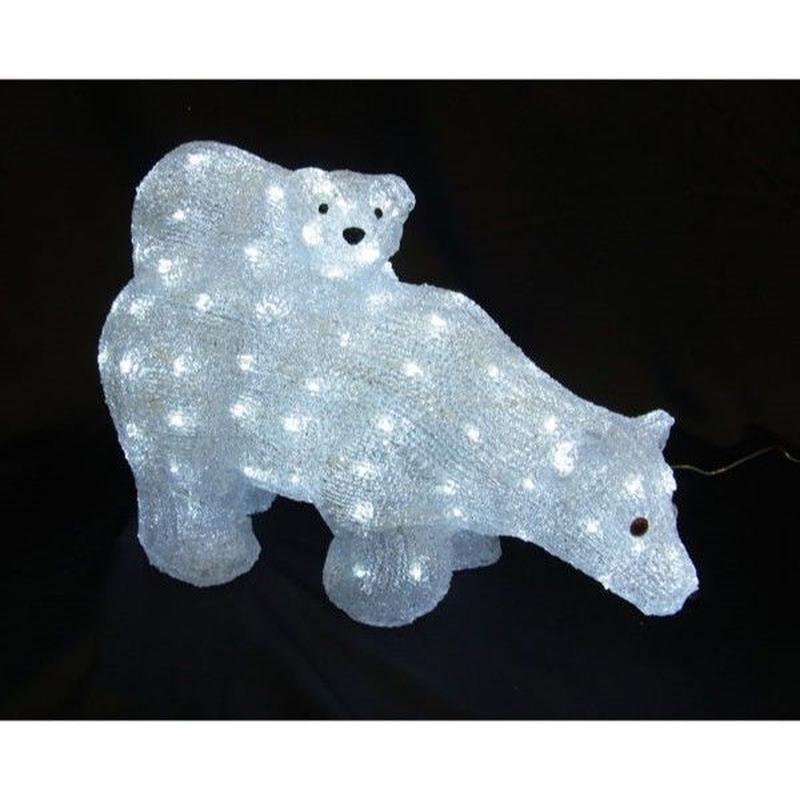 LED イルミネーション ディスプレイ 飾り 照明 ライティング クリスマス  マザー&ベイビーベア【L3D330】CR-88