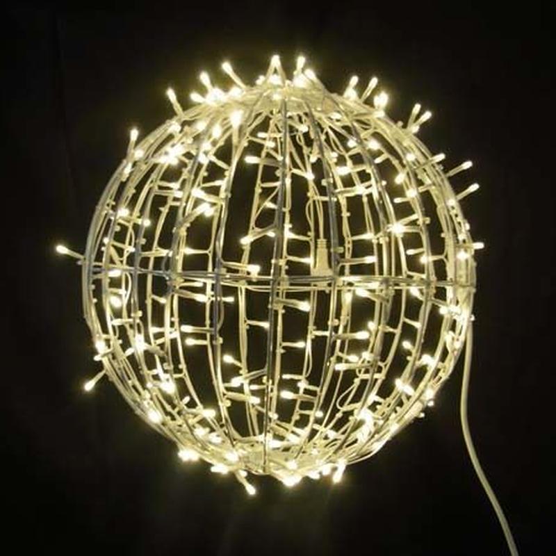 LED イルミネーション 3D モチーフ ワイヤーボール Φ40cm ディスプレイ ショップ 装飾 クリスマス ガーデン 庭【L3D903】CR-86