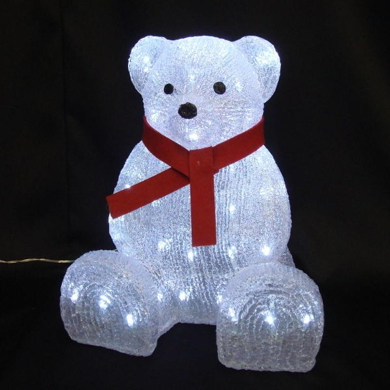 LED イルミネーション ディスプレイ 飾り 照明 ライティング クリスマス  リボンベア【L3D248】CR-88