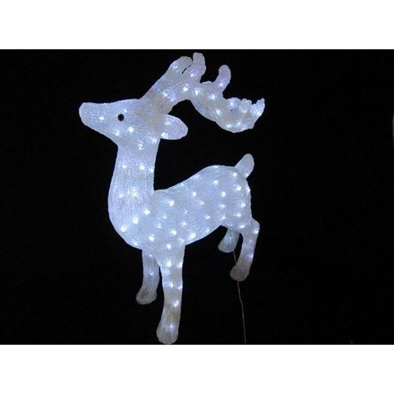 LED イルミネーション ディスプレイ 飾り 照明 ライティング クリスマス  スタンドトナカイ75【L3D364】CR-89