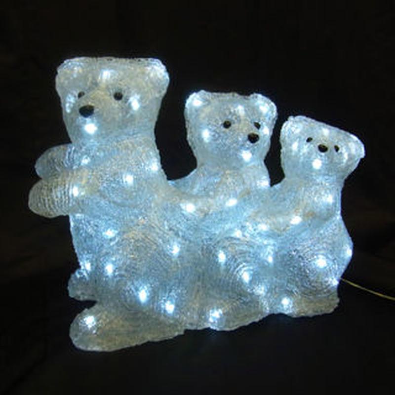 LED イルミネーション ディスプレイ 飾り 照明 ライティング クリスマス  スリーベア【L3D369】CR-88