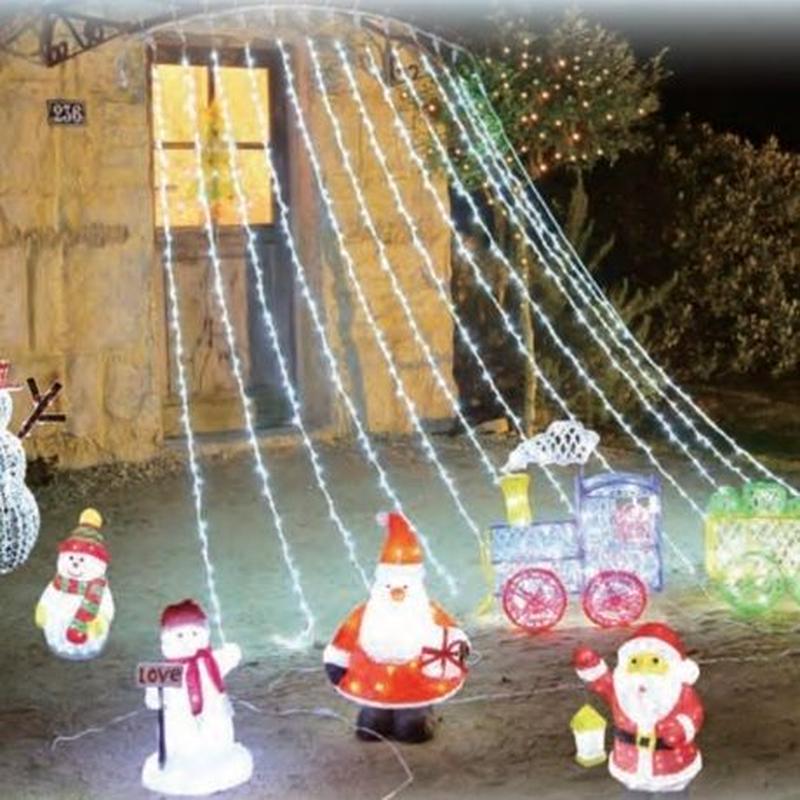 LED 室内用 イルミネーション 点滅 ディスプレイ 飾り 照明 ライティング クリスマス ウォーターホールライト 白 【1280球】 CR-36