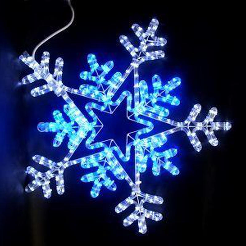 LED イルミネーション ディスプレイ 飾り 照明 ライティング クリスマス  雪 スノーフレーク 白・青色【L2DM701】CR-78