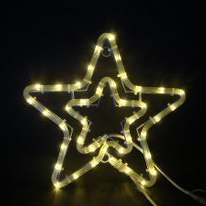 イルミネーション ディスプレイ 飾り 照明 ライティング クリスマス  星 LEDチューブスター電球色【L2DM165D】CR-75