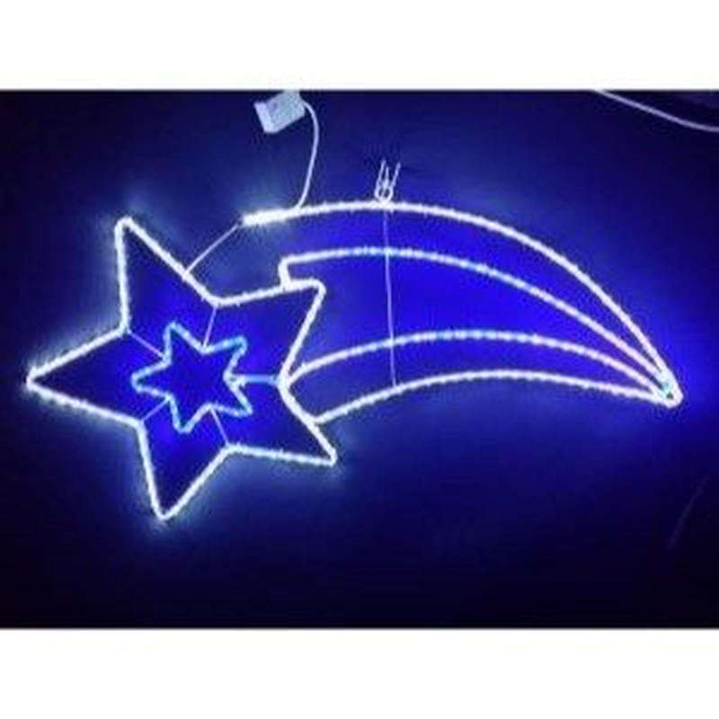 LED イルミネーション ディスプレイ 飾り 照明 ライティング クリスマス  流れ星 白・青色【L2DM504】CR-76
