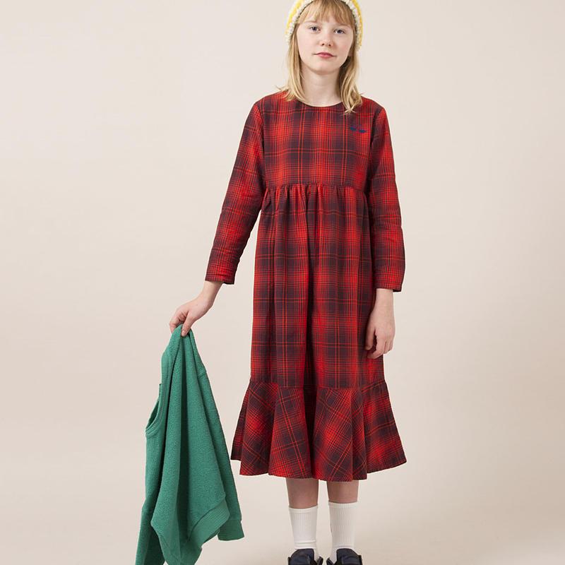 BOBO CHOSES  plaid flared dress  ワンピース 定価$132