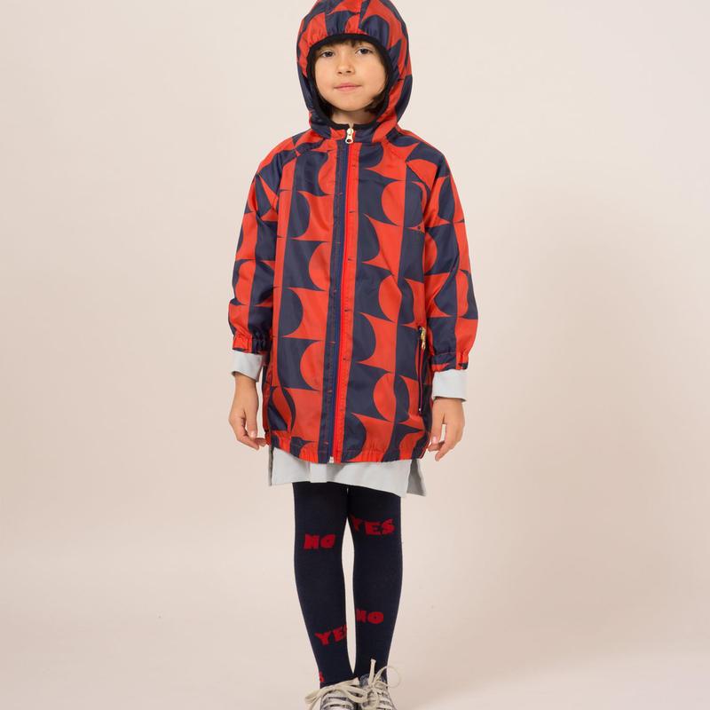 BOBO CHOSES patterned hooded coat コート 定価$233