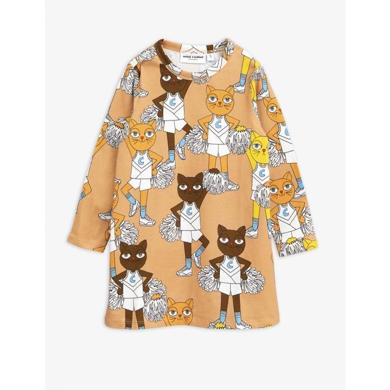 mini rodini ミニロディーニ CHEER CATS T-SHIRT DRESS ワンピース 定価$75