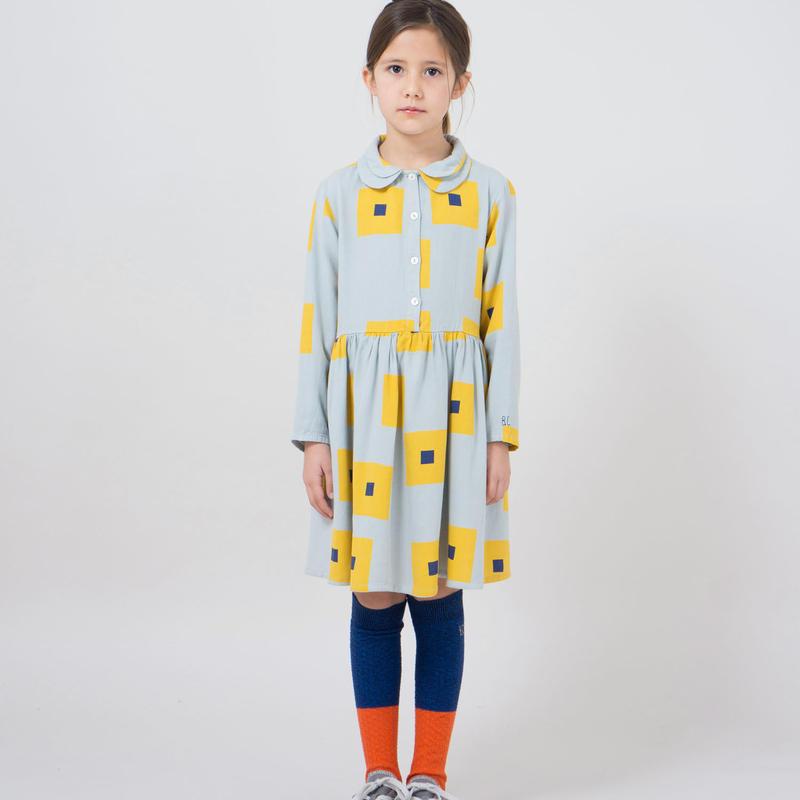 BOBO CHOSES  geometric print gathered dress  ワンピース 定価$132