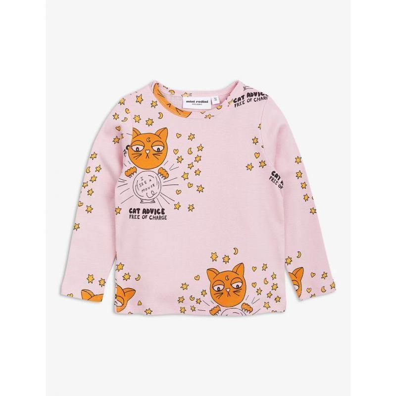 mini rodini ミニロディーニ CAT ADVICE LONG SLEEVE T-SHIRT