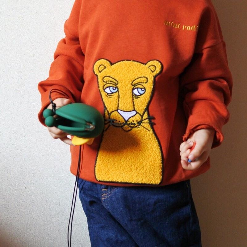 mini rodini ミニロディーニ CAT PATCH SWEATSHIRT トレーナー 定価$105