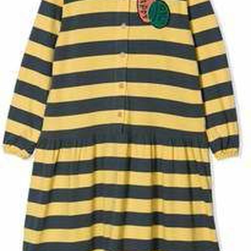 BOBO CHOSES  patch detail striped dress  ワンピース 定価$188