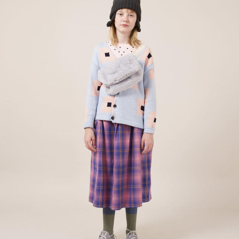 BOBO CHOSES square pattern knitted cardigan  カーディガン 定価$167