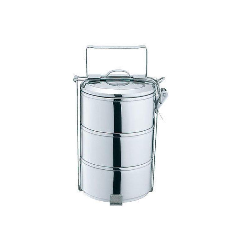 タイ ゼブラ社 ステンレスのお弁当箱 フードキャリア10cm×3段  ステンレスフードキャリアー