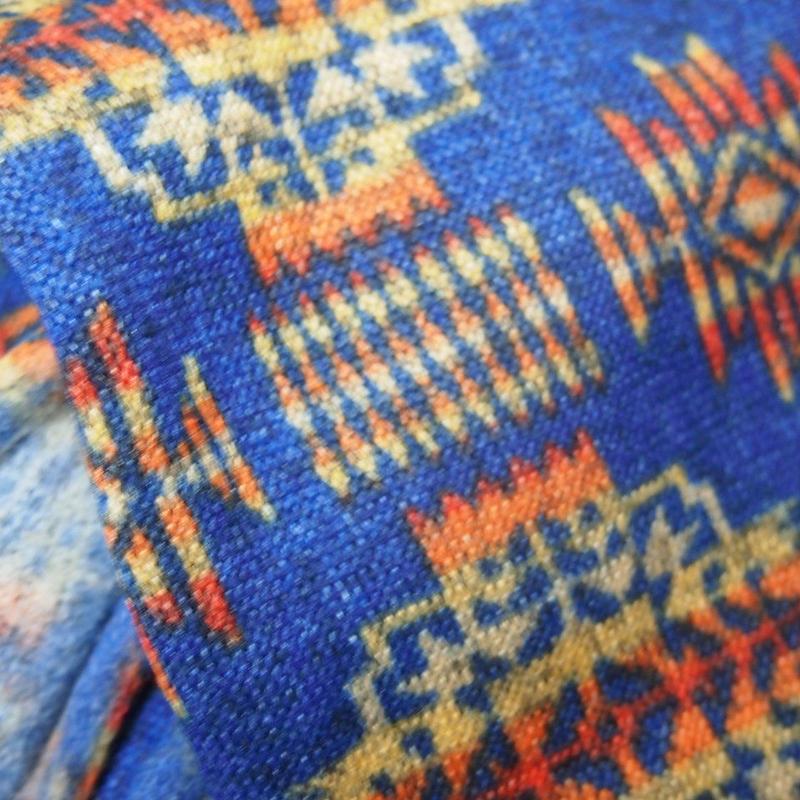 民族柄 ブルー+TシャツSET