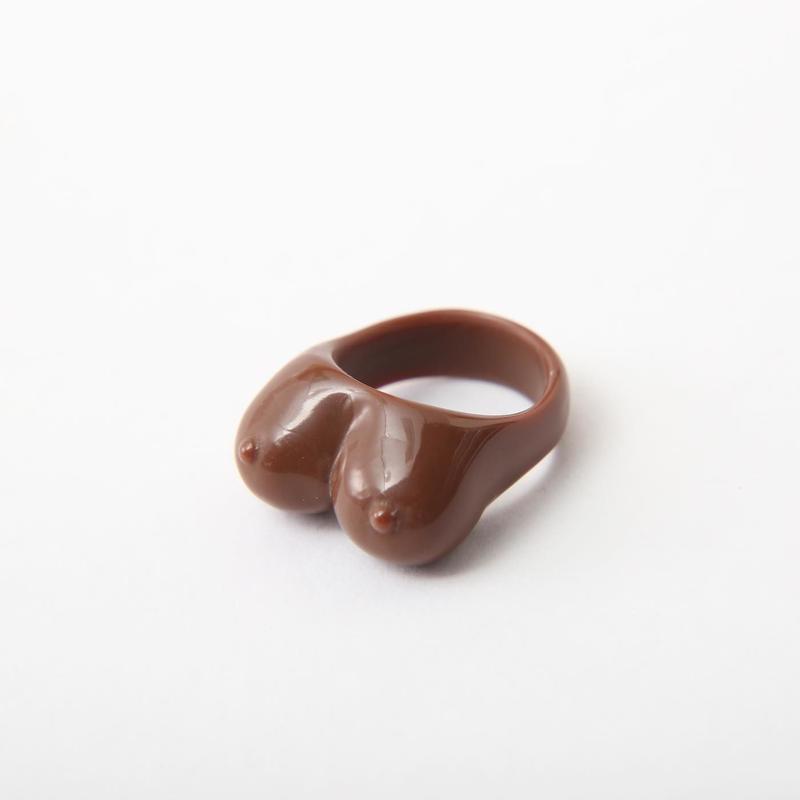 おっぱいリング #Brown