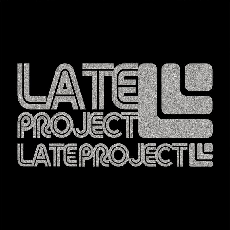 カッティングステッカー【新色・LATEproject定番ロゴ】シルバー・2種類セット