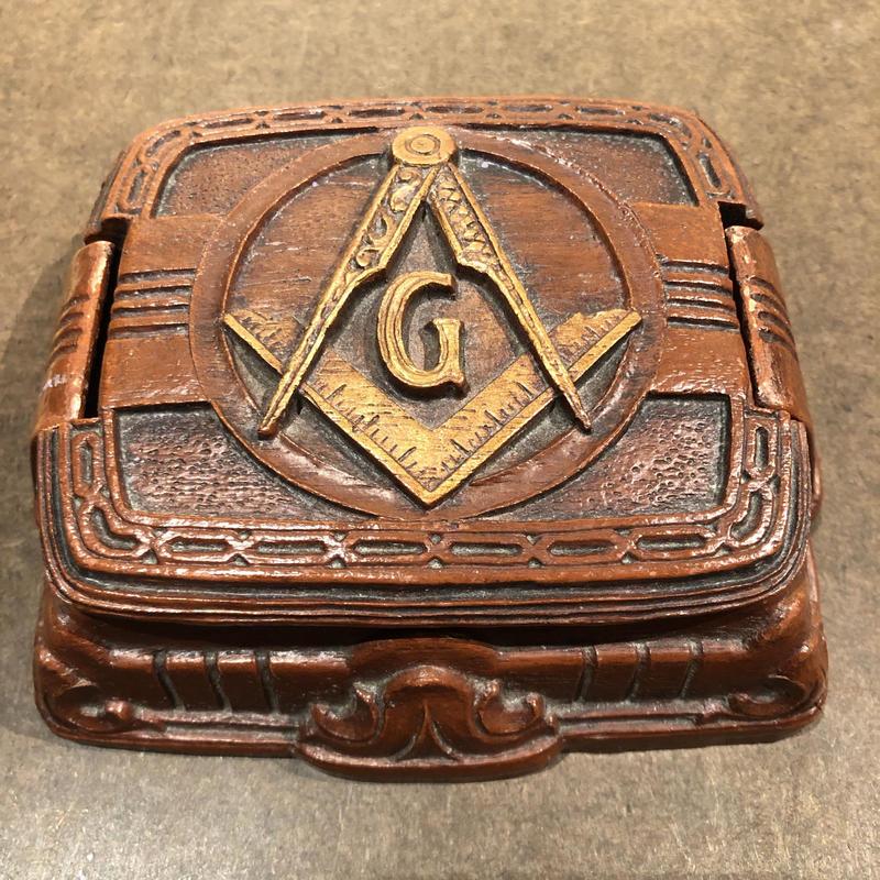 Antique Masonic Jewelry Box