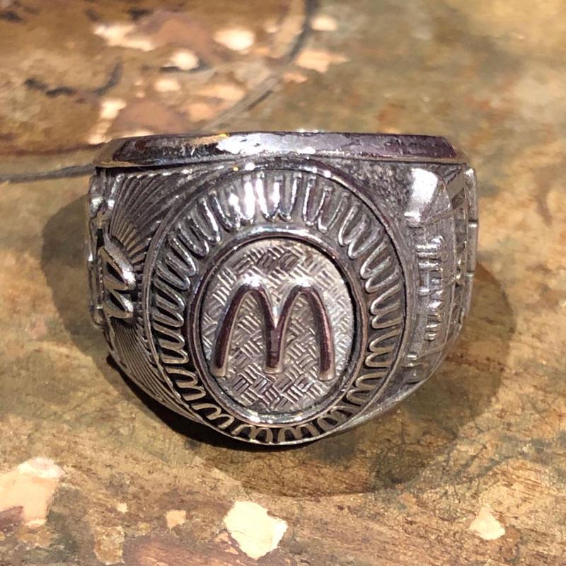 Vintage McDonalds Balfour Stainless Awards Ring