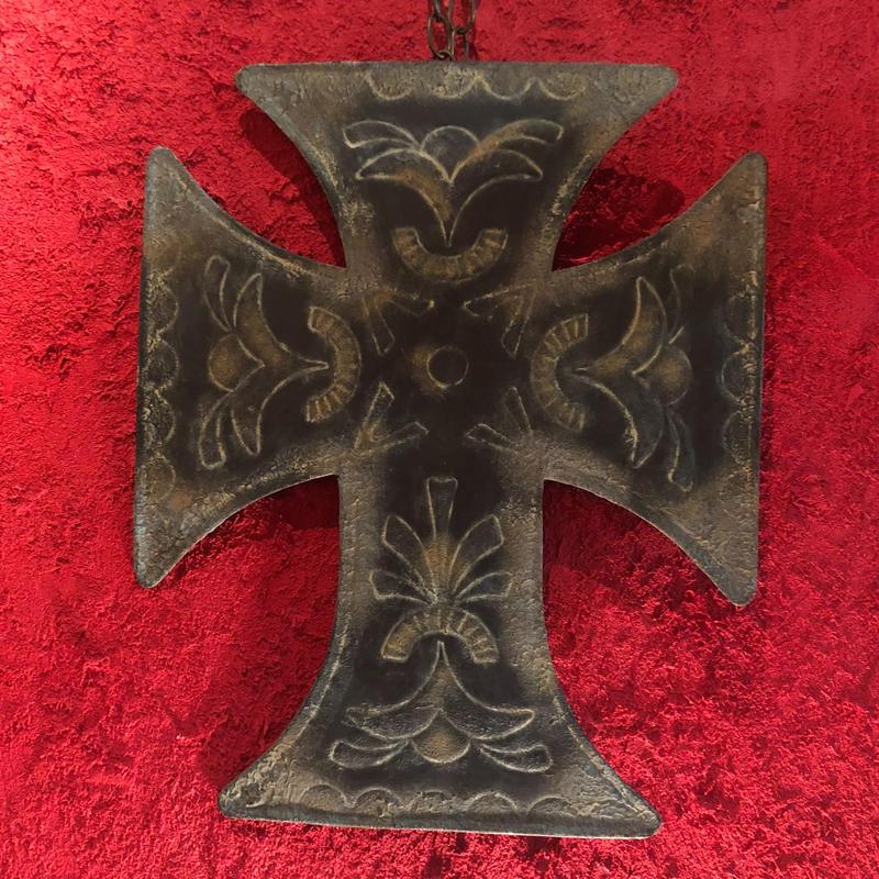 Vintage Wall Decor Tin Cross