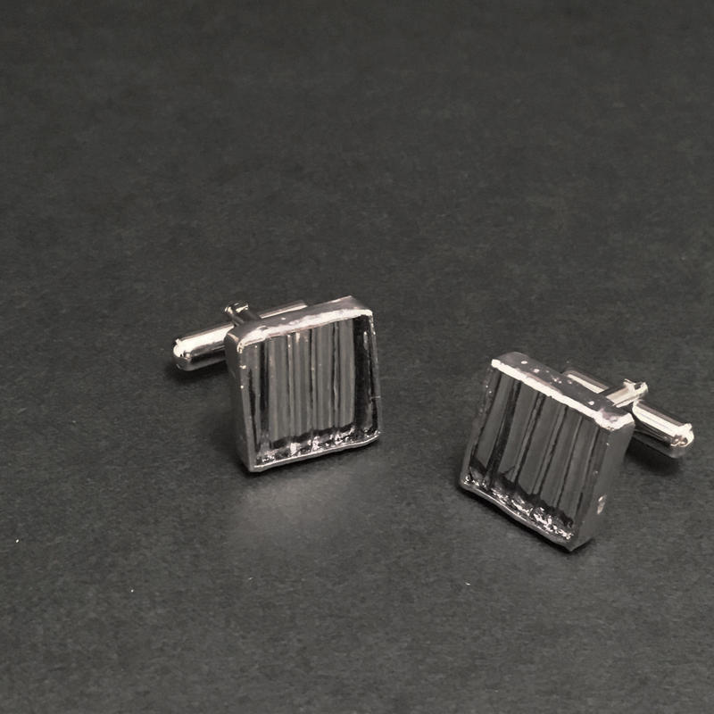 【doro】SQUARE CUFF LINKS | STRIPE